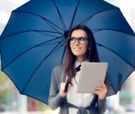Stilingas ir ryškiaspalvis skėtis laukia Jūsų!