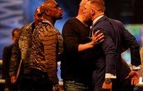 Conoro McGregoro ir Floydo Mayweatherio kovos pristatymas Londone