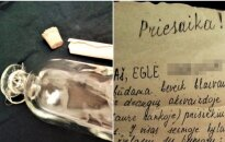 Italijoje rastas lietuvės nuotakos laiškas butelyje