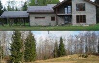 Nugriautas nelegaliai pastatytas namas