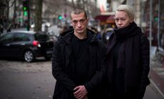 Piotras Pavlenskis  su žmona Oksana