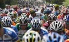 Tour de France lenktynės - atkarpa tarp Grenoblio ir Kurševelio.