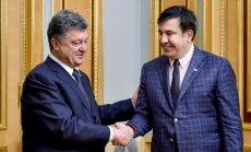 President Petro Poroshenko and Mikheil Saakashvili