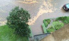 В Каунасе прошел ливень