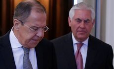 Sergejus Lavrovas ir Rexas Tillersonas
