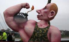 Vladimiras Putinas - figūra Diuseldorfo karnavale