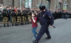 Protestai prieš V. Putino pensijų reformą Sankt Pererburge