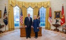 D. Grybauskaitė ir D. Trumpas susitinka Baltuosiuose rūmuose