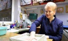 Dalia Grybauskaitė lankosi Panevėžyje. R. Dačkaus nuotr.