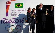Олимпийский огонь прибыл в Бразилию