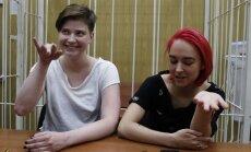 """Rusijoje areštuotos """"Pussy Riot"""" narės"""
