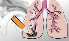 Pamatyk kaip atrodo plaučiai, surūkius vos vieną cigaretę