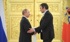 Vladimiras Putinas ir Aleksandras Ovečkinas