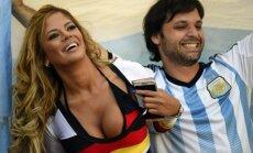 Vokietijos ir Argentinos futbolo sirgaliai