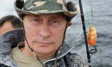 V. Putinas žvejojo Sibire