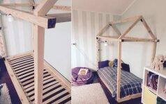 Darome savo rankomis: lova-namelis vos už 80 eurų