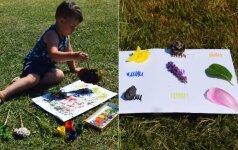 Teo ir Ieva pristato: gėlių teptukas, spalvų loterija ir kitos linksmybės lauke