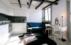 Vos 25 m² būste telpa visos būtiniausios erdvės