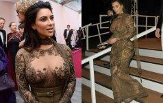 Nepadoriai prabangi Kim Kardashian suknelė kaustė žvilgsnius