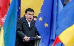 Michailas Saakašvilis ragina sukilti ukrainiečius prieš Vyriausybę
