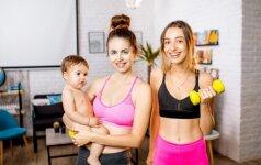 MAMOS ATVIRAI: kova su kilogramais po gimdymo