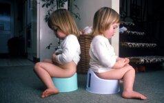 Tualeto bėdos: vaikas nesėda ant naktipuodžio