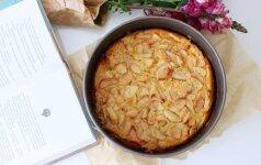 Drėgnas, ne per saldus burnoje tirpstantis obuolių pyragas