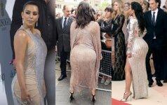 RETI KADRAI: kaip Kim Kardashian atrodo iš nugaros
