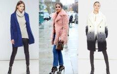 3 madingiausi šilti paltai žiemai