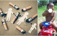 Rūkančio mažylio nuotrauka šokiravo pasaulį: kaip jam sekasi šiandien