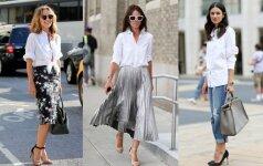 Kaip vilkėti baltus marškinius ir atrodyti moteriškai bei stilingai?