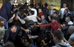 Протестующие захватили парламент Македонии