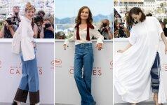 Garsios ir stilingos moterys parodė, kad džinsus mūvėti galima net ant raudonojo kilimo (FOTO)