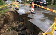 После дождя на Анатакальнисе произошла серьезная авария