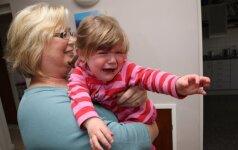 Vaikas šaukia, kad nenori eiti į darželį