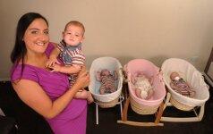 Moteris per metus pagimdė keturis vaikus (papildyta nuotraukomis)