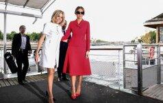 Brigitte Macron ir Melania Trump susitikimo Paryžiuje metu