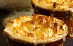 Žuvies pyragas su bulvių košės plutele