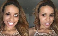 Kaip vyrai sureaguos į natūralias ir retušuotas šios merginos nuotraukas