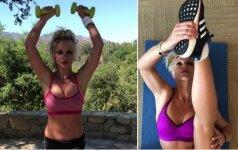 Britney Spears atskleidė pratimus, padedančius padailinti kūno linijas