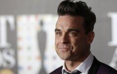 Meilę dukrytei Robbie Williamsas įamžino neįprastu būdu FOTO