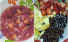 Primena vaikystę: šalta vaisių ir uogų sriuba