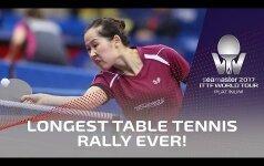 В настольном теннисе установили рекорд по количеству ударов