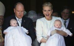 Pakrikštyti Monako karališkieji dvynukai PAPILDYTA+FOTO