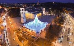 Взгляните на рождественскую елку в Вильнюсе с высоты птичьего полета