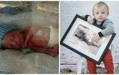 Po gimdymo ir Inga, ir sūnus pateko į reanimaciją