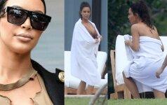 N-18: atviriau jau vargu ar įmanoma... Kim Kardashian ir vėl čia!