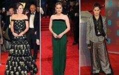 BAFTA apdovanojimai: stiliaus laimėjimai ir visiški nesusipratimai