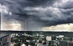 В выходные в Литве прогнозируют шквал