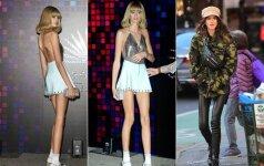 Pradėjusi modelio karjerą Cindy Ceawford dukra tapo panaši į kaulų rinkinį